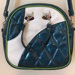 Double K Originals Teal Glitter Cruiser Bag